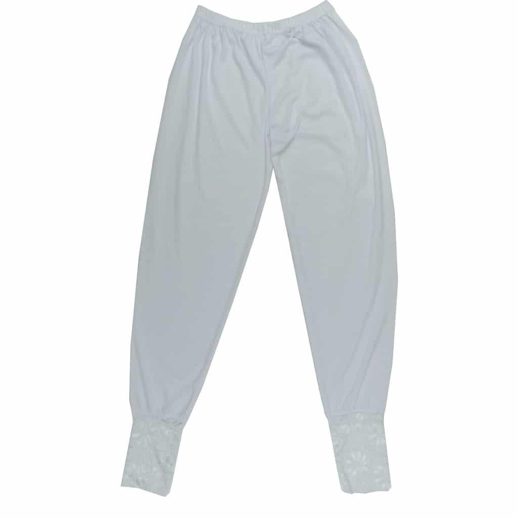 Celana Legging Renda Putih Ukuran Jumbo Celana Umroh Renda Putih Perlengkapan Umroh Wanita