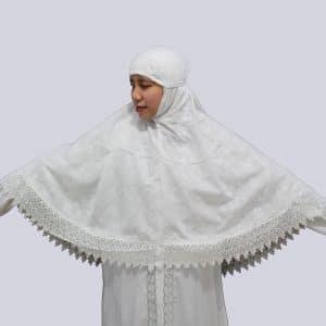 jilbab Putih Minang Katun Jepang Super Jumbo XXXL