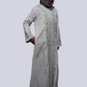 gamis Putih Bordir - Baju Jubah Basmah