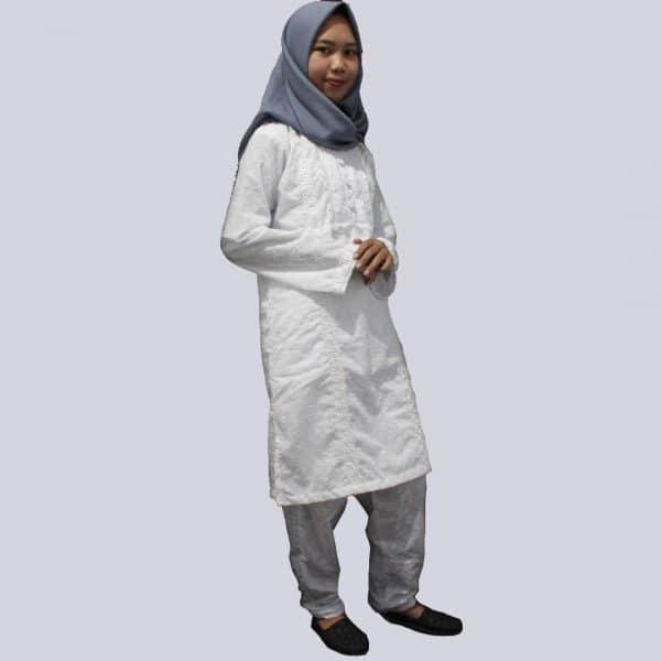 Setelan Baju Ihram Putih Katun Lengkap