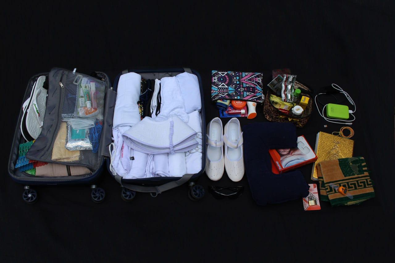 cara packing perlengkapan umroh